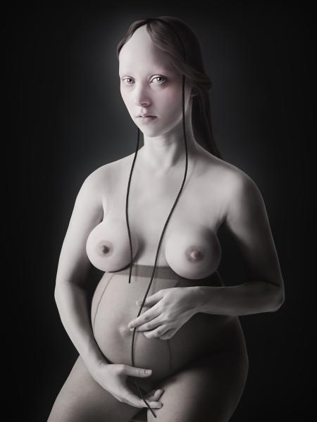 """Pregnant,"" C-Print Face Mounted with Acrylic, Edition 1/8, 63 x 47 inches"
