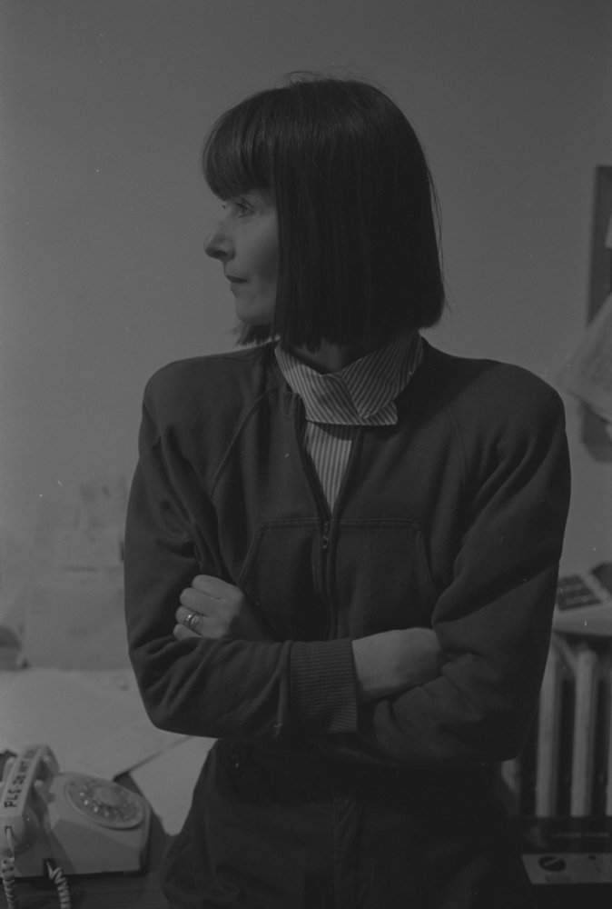 Co-founder and co-director of The Alternative Museum, Janice Rooney, 1983