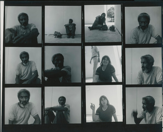 Edsel Cramer and Suzanne Paul, Circa 1988, Contact proof print