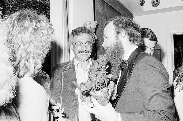 Jim Harithas at the home of Marilyn Oshman , Circa 1978, 35mm b/w negative