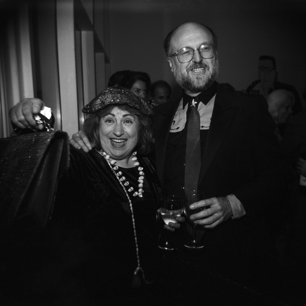 Sharon and Gus Kopriva at the Menil Collection Gala, 2001, Scan from 120mm b&w film negative